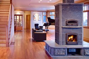 Ryan residence fireplace