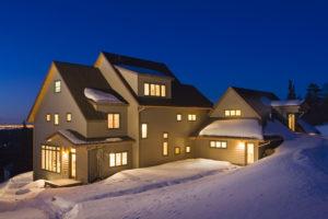 Meinel house exterior in winter